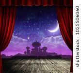 arabian night backdrop on stage ...   Shutterstock . vector #1025506060