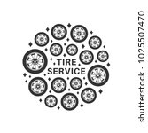 tire repair service. circle... | Shutterstock .eps vector #1025507470