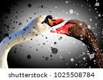 black and white   fighting two... | Shutterstock . vector #1025508784