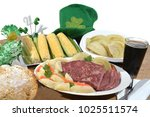 traditional st. patrick's day... | Shutterstock . vector #1025511574