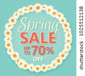 spring sale banner with daisy... | Shutterstock .eps vector #1025512138