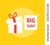 big sale bubble with open gift... | Shutterstock .eps vector #1025512150