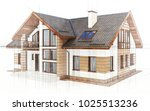 3d technical drawing house ... | Shutterstock . vector #1025513236
