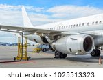 fueling aircraft  view of the... | Shutterstock . vector #1025513323