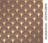 Art Deco Pattern. Seamless golden background. Minimalistic geometric design. Vector line design. 1920-30s motifs. Luxury vintage illustration | Shutterstock vector #1025513854