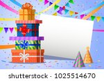 happy birthday design.... | Shutterstock .eps vector #1025514670