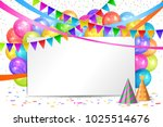 happy birthday design. border... | Shutterstock .eps vector #1025514676