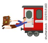 funny picture  illustration a... | Shutterstock .eps vector #1025515183