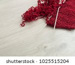 all for needlework  red thread  ... | Shutterstock . vector #1025515204