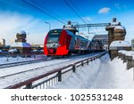 train of the moscow central... | Shutterstock . vector #1025531248