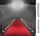 3d spotlights against black... | Shutterstock . vector #1025535610