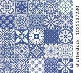 big vector set of tiles... | Shutterstock .eps vector #1025537230