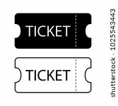 ticket icon. templates for...   Shutterstock .eps vector #1025543443