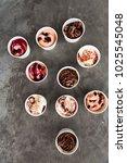 ten different kind of ice cream ...   Shutterstock . vector #1025545048