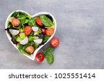 healthy vegetable salad of... | Shutterstock . vector #1025551414
