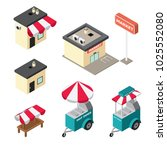 isometric buildings of market ...   Shutterstock .eps vector #1025552080