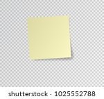 paper sticker with shadow on... | Shutterstock .eps vector #1025552788