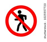 no walking sign vector icon. | Shutterstock .eps vector #1025557723