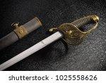 closeup of a beautiful sword...   Shutterstock . vector #1025558626