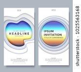 vertical banner design template ... | Shutterstock .eps vector #1025563168