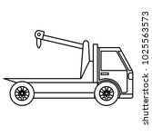 crane truck service icon | Shutterstock .eps vector #1025563573