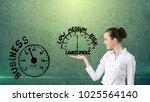 woman start her startup... | Shutterstock . vector #1025564140