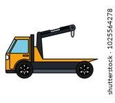 crane truck service icon | Shutterstock .eps vector #1025564278