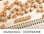 words word on wooden cubes.... | Shutterstock . vector #1025566348