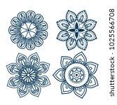 boho style mandala set icons | Shutterstock .eps vector #1025566708