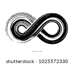 black infinity symbol isolated... | Shutterstock .eps vector #1025572330