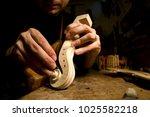 violins in ancient italian... | Shutterstock . vector #1025582218