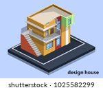 isometric 3d flat illustration... | Shutterstock .eps vector #1025582299