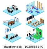 isometric 3d vector... | Shutterstock .eps vector #1025585140