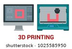 new generation of 3d printing... | Shutterstock .eps vector #1025585950