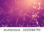 abstract polygonal space low... | Shutterstock . vector #1025586790