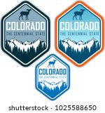 colorado vector label with... | Shutterstock .eps vector #1025588650
