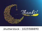 thanks  beautiful greeting card ... | Shutterstock .eps vector #1025588890