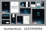 corporate identity branding... | Shutterstock .eps vector #1025590096