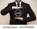 general data protection... | Shutterstock . vector #1025593000