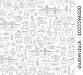a seamless pattern of lisbon... | Shutterstock .eps vector #1025596330
