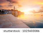 beautiful sunset at rovinj in... | Shutterstock . vector #1025603086