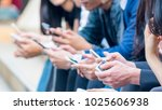 group of hand with smartphone | Shutterstock . vector #1025606938