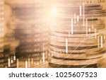 stock market or forex trading... | Shutterstock . vector #1025607523