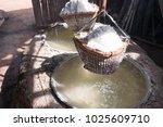 rock salt from boiled saltwater.... | Shutterstock . vector #1025609710