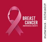 Breast Cancer Awareness Ribbon Background. Vector illustration