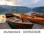 traditional wooden boats pletna ...   Shutterstock . vector #1025622628
