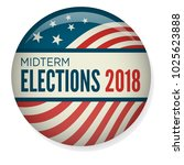 retro midterm elections vote  ... | Shutterstock .eps vector #1025623888