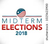 election header banner w  vote  | Shutterstock .eps vector #1025623900