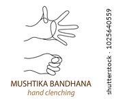 yoga for hands vector...   Shutterstock .eps vector #1025640559