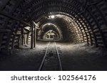 illuminated  underground tunnel ... | Shutterstock . vector #102564176